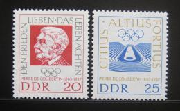 DDR 1963 Pierre de Coubertin Mi# 939-40