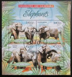 Poštovní známky Uganda 2012 Sloni Mi# 2965-68 Kat 13€