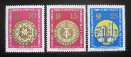 DDR 1965 Lipský veletrh Mi# 1090-92