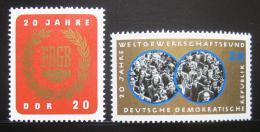 DDR 1965 Výroèí odborù Mi# 1115-16