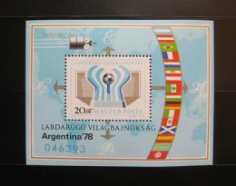 Maïarsko 1978 MS ve fotbale Mi# Block 130