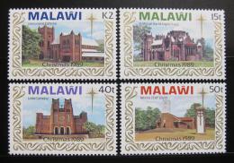 Malawi 1989 Kostely, vánoce Mi# 541-44