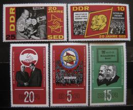 DDR 1966 Socialistická strana SED Mi# 1173-77