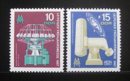 DDR 1967 Lipský veletrh Mi# 1254-55