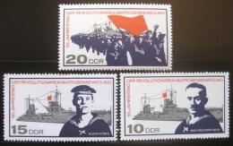 DDR 1967 Povstání námoøníkù v Kielu Mi# 1308-10