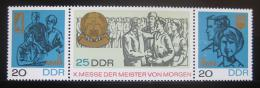 DDR 1967 Veletrh Mistøi zítøka Mi# 1320-22