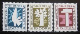 DDR 1968 Rok lidských práv Mi# 1368-70