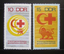 Poštovní známky DDR 1969 Èervený køíž Mi# 1466-67