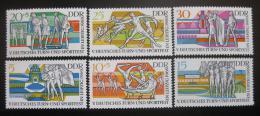 Poštovní známky DDR 1969 Sportovní festival Mi# 1483-88