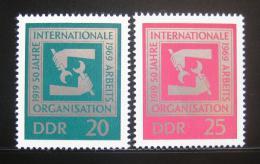 Poštovní známky DDR 1969 Výroèí ILO Mi# 1517-18
