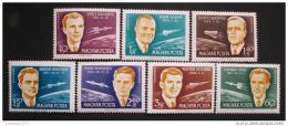 Poštovní známky Maïarsko 1962 Kosmonauti Mi# 1873-79