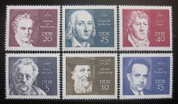 Poštovní známky DDR 1970 Osobnosti Mi# 1534-39