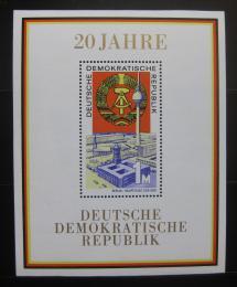 Poštovní známky DDR 1969 Výroèí vzniku republiky Mi# Block 28