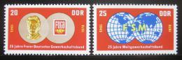 Poštovní známky DDR 1970 Výroèí odborù Mi# 1577-78