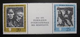 Poštovní známky DDR 1971 Bojovníci odporu Mi# 1680-81