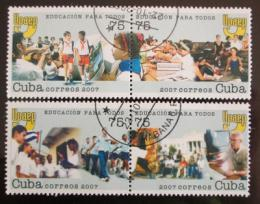 Poštovní známky Kuba 2007 Vzdìlání pro všechny Mi# 4990-93
