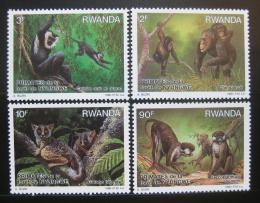 Poštovní známky Rwanda 1988 Primáti Mi# 1389-92