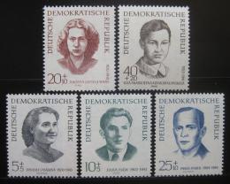 Poštovní známky DDR 1962 Obìti fašismu Mi# 881-85