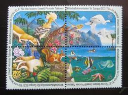 Poštovní známky OSN Vídeò 1991 Životní prostøedí Mi# 110-13