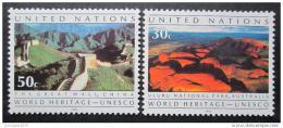Poštovní známky OSN New York 1992 Svìtová dìdictví Mi# 625-26