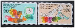 Poštovní známky OSN New York 1992 Vìda Mi# 635-36