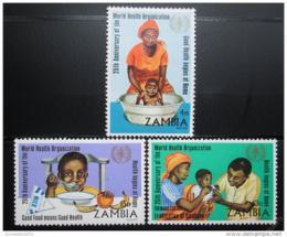 Poštovní známky Zambie 1973 Výroèí WHO, nekompl. Kat 44€