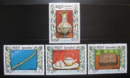 Poštovní známky Kambodža 1987 Výrobky ze støíbra Mi# 863-66