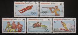Poštovní známky Kambodža 1983 ZOH Sarajevo Mi# 517-21 Kat 19€