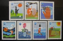 Poštovní známky Maïarsko 1975 Ochrana životního prostøedí Mi# 3070-76