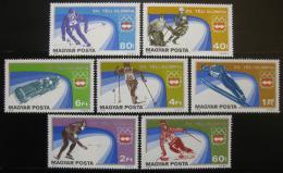 Poštovní známky Maïarsko 1975 ZOH Innsbruck Mi# 3089-95