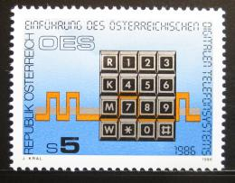 Poštovní známka Rakousko 1986 Digitální telefon Mi# 1838