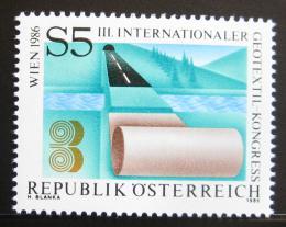 Poštovní známka Rakousko 1986 Kongres geotextílií Mi# 1844