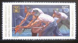 Poštovní známka Rakousko 1990 Oceláøi a horníci Mi# 2009