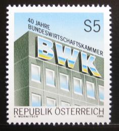 Poštovní známka Rakousko 1986 Fedrální obchodní komora Mi# 1871