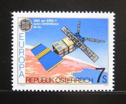 Poštovní známka Rakousko 1991 Evropa CEPT, prùzkum vesmíru Mi# 2026