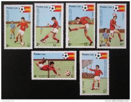 Poštovní známky Laos 1981 MS ve fotbale Mi# 505-10