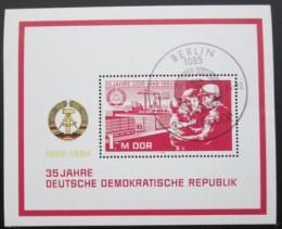 Poštovní známka DDR 1984 Výroèí vzniku republiky Mi# Block 78