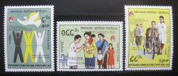 Poštovní známky Laos 1988 Mezinárodní èervený køíž Mi# 1110-12