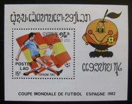 Poštovní známka Laos 1982 MS ve fotbale Mi# Block 89