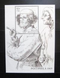 Poštovní známka Belgie 1969 Výstava POSTPHILA Mi# Block 39