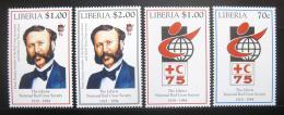 Poštovní známky Libérie 1994 Èervený køíž Mi# 1610-13