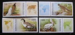 Poštovní známky Burkina Faso 1996 Ptáci Mi# 1406-09