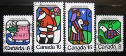 Poštovní známky Kanada 1973 Vánoce Mi# 541-44