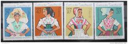 Poštovní známky DDR 1971 Lužické taneèní kroje Mi# 1668-71