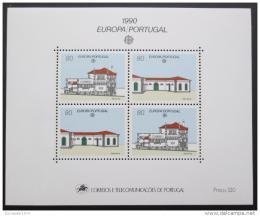 Poštovní známka Portugalsko 1990 Evropa CEPT, architektura Mi# Block 71