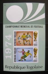 Poštovní známka Togo 1974 MS ve fotbale Mi# Block 81