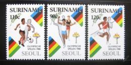 Poštovní známky Surinam 1988 LOH Soul Mi# 1264-66