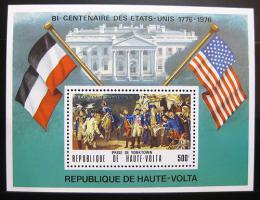 Poštovní známka Horní Volta 1975 Americká revoluce Mi# Block 34