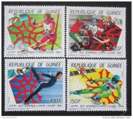 Poštovní známky Guinea 1988 ZOH Calgary Mi# 1154-57