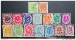 Poštovní známky Nìmecko 1951-52 Poštovní roh Mi# 123-38 Kat 50€